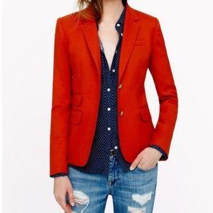 NWT J. Crew 100% Wool Red Schoolboy Blazer